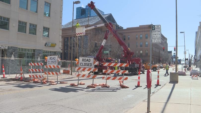 Downtown Corners closed for Toledo Waterways Initiative project