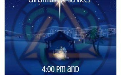 Christmas Eve Services, Dec. 24