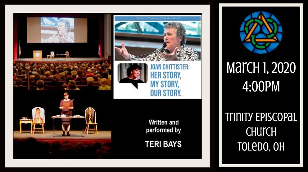"""Teri Bays presents """"Joan Chittister: Her story, my story, our story"""", March 1"""